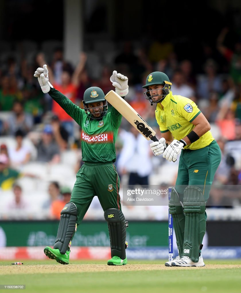 South Africa v Bangladesh - ICC Cricket World Cup 2019 : News Photo