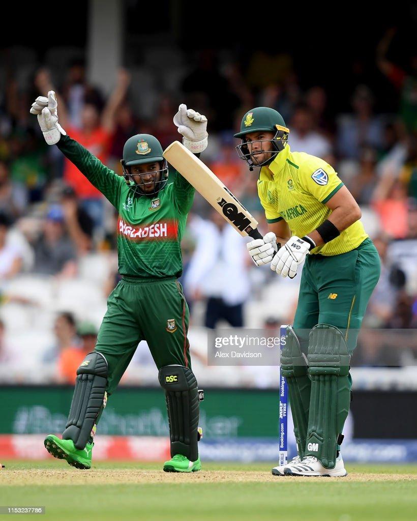South Africa v Bangladesh - ICC Cricket World Cup 2019 : News Photo