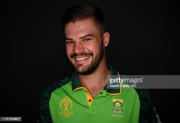 Aiden Markram of South Africa poses for a portrait prior to the ICC Cricket World Cup 2019 at on May 22 2019 in Cardiff Wales