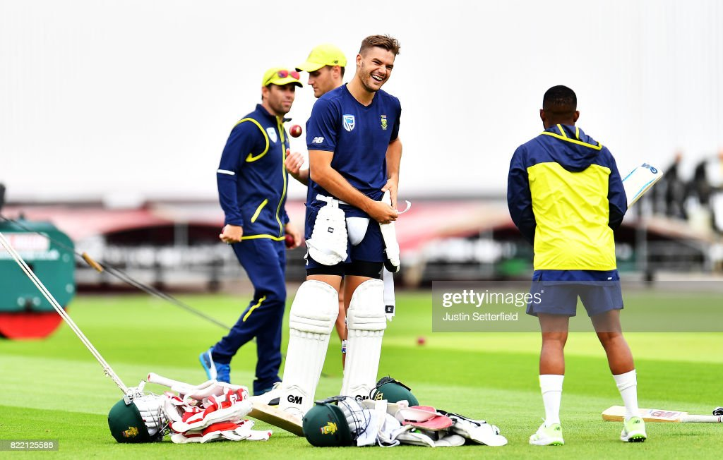 England And South Africa Nets Ahead Of The 3rd Investec Test : News Photo