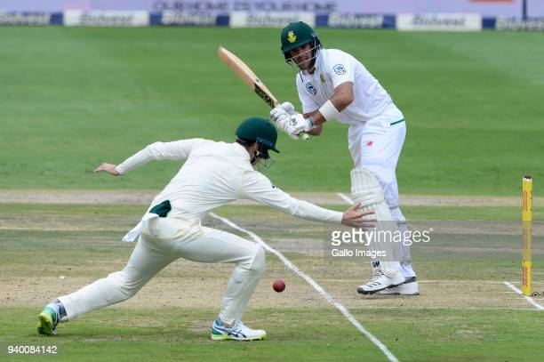 Aiden Markram of the Proteas during day 1 of the 4th Sunfoil Test match between South Africa and Australia at Bidvest Wanderers Stadium on March 30...