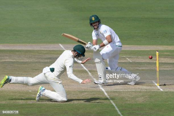 Aiden Markram of the Proteas during day 3 of the 4th Sunfoil Test match between South Africa and Australia at Bidvest Wanderers Stadium on April 01...