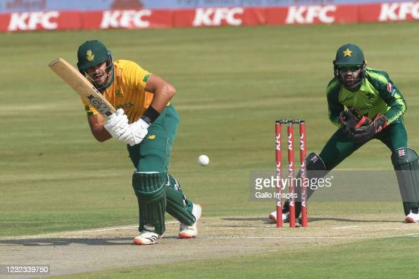 Aiden Markram of the Proteas during the 3rd Betway ODI between South Africa and Pakistan at SuperSport Park on April 16, 2021 in Pretoria, South...