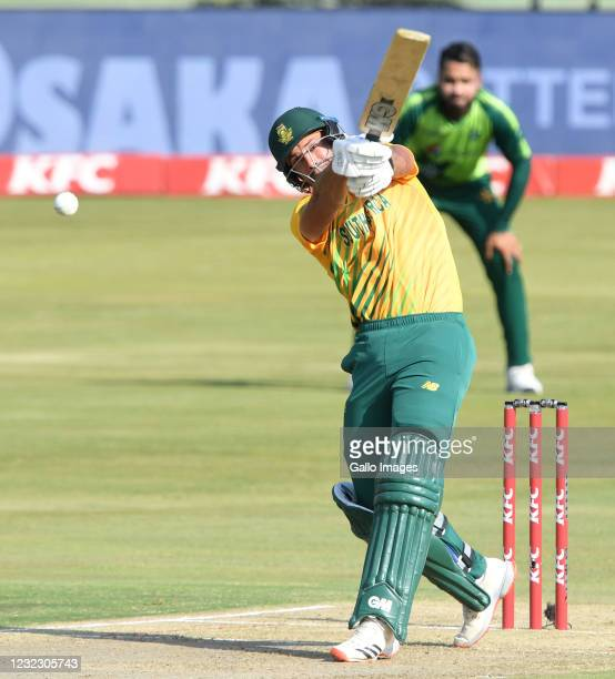 Aiden Markram of the Proteas during the 3rd KFC T20 International match between South Africa and Pakistan at SuperSport Park on April 14, 2021 in...
