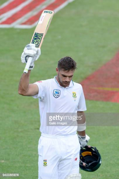 Aiden Markram of the Proteas out for 152 runs during day 1 of the 4th Sunfoil Test match between South Africa and Australia at Bidvest Wanderers...