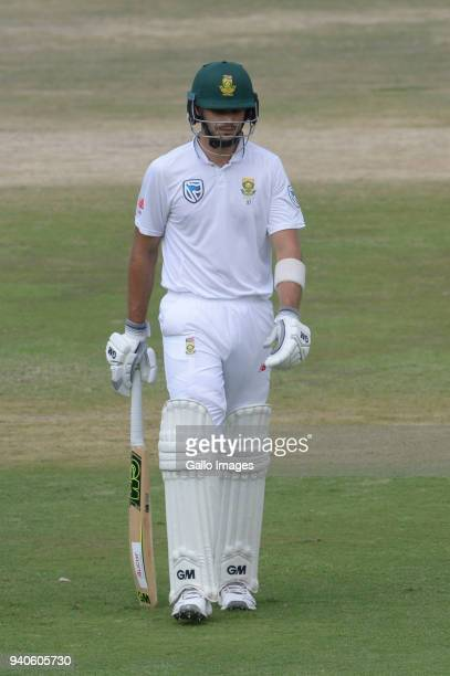 Aiden Markram of the Proteas out for 37 runs during day 3 of the 4th Sunfoil Test match between South Africa and Australia at Bidvest Wanderers...