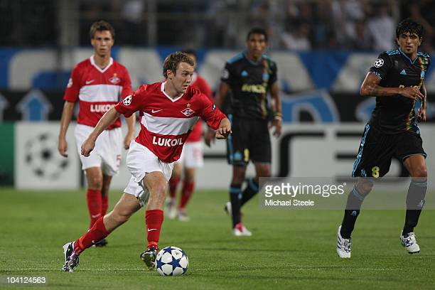 Aiden McGeady of Spartak during the UEFA Champions League Group F match between Olympique Marseille and Spartak Moscow at the Stade Velodrome on...