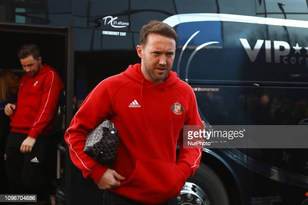 Aiden McGeady of Sunderland arriving for the Sky Bet League 1 match between Oxford United and Sunderland at the Kassam Stadium Oxford on Saturday 9th...
