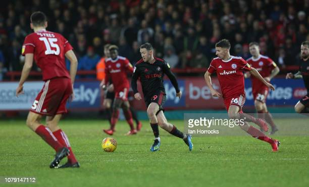 Aiden McGeady of Sunderland carries the ball during the Sky Bet League One match between Accrington Stanley and Sunderland at The Crown Ground on...