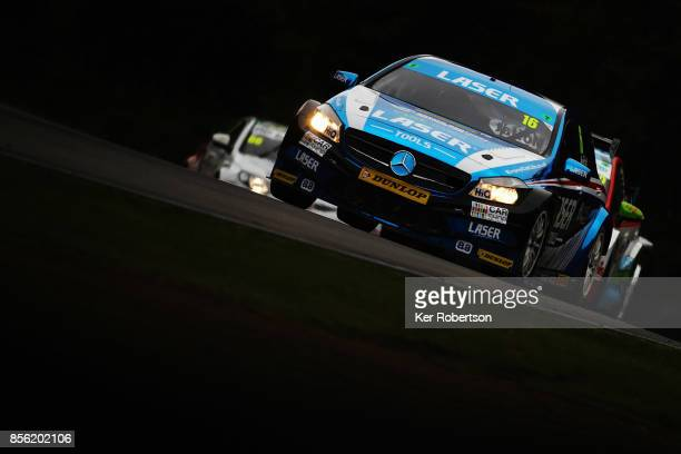 Aiden Moffat of Laser Tools Racing Mercedes drives on his way to winning race one during the British Touring Car Championship finale at Brands Hatch...