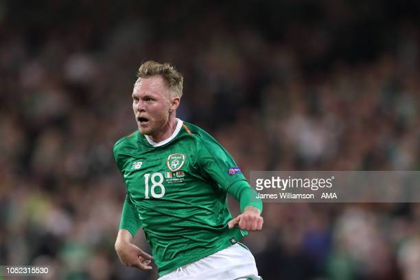 Aiden OBrien of Ireland during the UEFA Nations League B group four match between Ireland and Wales at Aviva Stadium on October 16 2018 in Dublin...