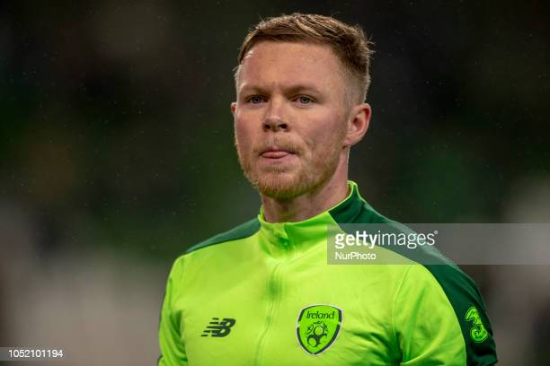 Aiden O'Brien of Ireland during the UEFA Nations League B match between Republic of Ireland and Denmark at Aviva Stadium in Dublin Ireland on October...
