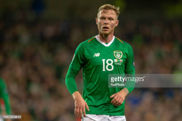 Aiden O'Brien of Ireland during the UEFA Nations League B match between Republic of Ireland and Wales at Aviva Stadium in Dublin Ireland on October...