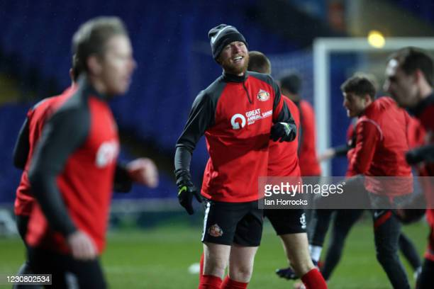 Aiden O'Brien warms up before the Sky Bet League One match between Ipswich Town and Sunderland at Portman Road on January 26, 2021 in Ipswich,...