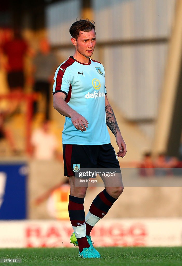 Aiden O'Neill of Burnley looks on during the pre season friendly match between Morecambe and Burnley at Globe Arena on July 19, 2016 in Morecambe, England.