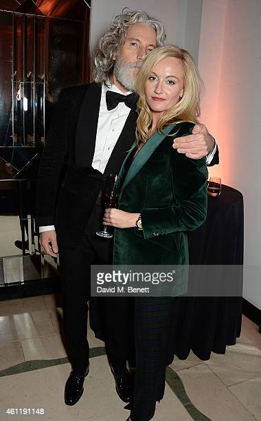 Aiden Shaw and Sarah Ann Murray attend The Rake Magazine And Claridge's Celebration of London Collections Men at Claridge's Hotel on January 8 2015...