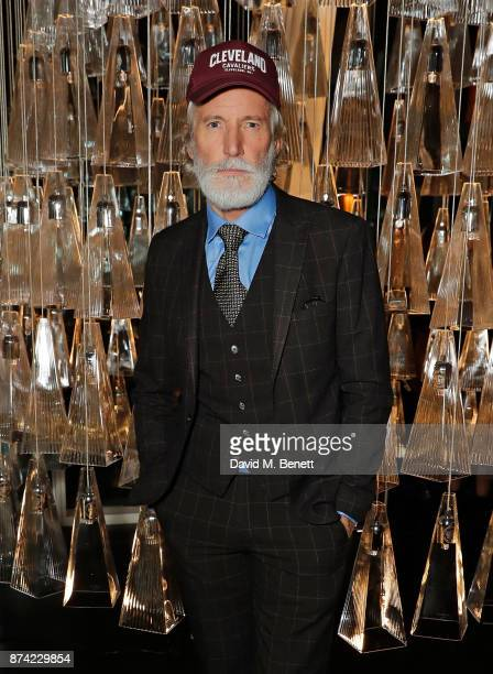 Aiden Shaw attends the unveiling of 'The Tree of Glass' by Lee Broom with Nude at Aqua Shard on November 14 2017 in London England