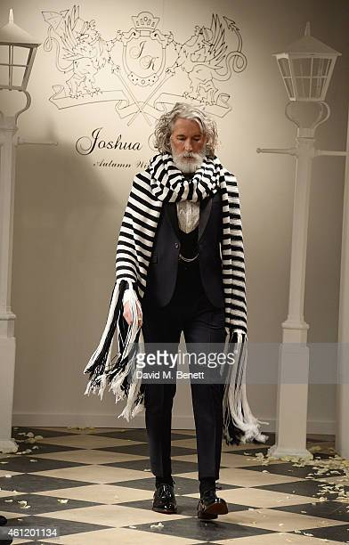 Aiden Shaw walks the runway at the Joshua Kane AW15 Men's Collection Show at the Old Spitalfields Market on January 8 2015 in London England