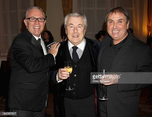 Aiden Sullivan, Terry O'Neil and Tom Stoddart attend Hidden Gems Photography Gala Auction in support of Variety Club at St Pancras Renaissance Hotel...