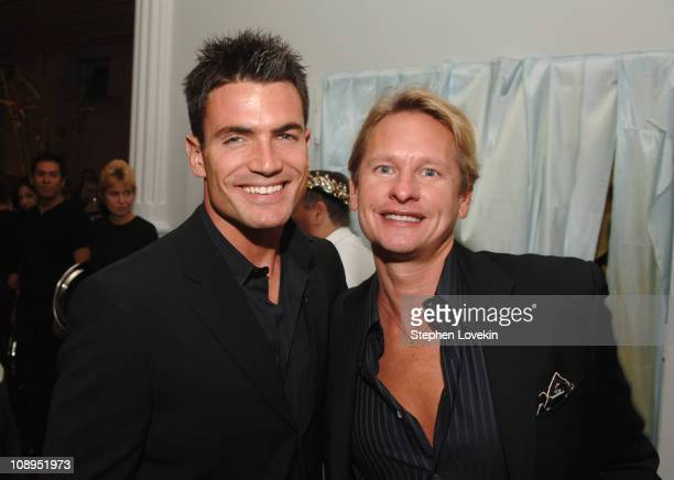 Aiden Turner and Carson Kressley during 15th Annual 'amfAR Rocks' Benefit at The Puck Building in New York City New York United States