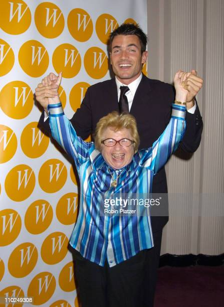 Aiden Turner and Dr Ruth Westheimer during The Center for the Advancement of Women's 10th Anniversary Gala at The Waldorf Astoria in New York City...