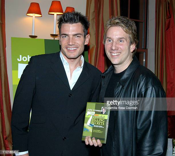 Aiden Turner and John Livesay during W Magazine Publisher Alyce Alston Hosts Book Launch Party for John Livesay at Tribeca in New York City New York...