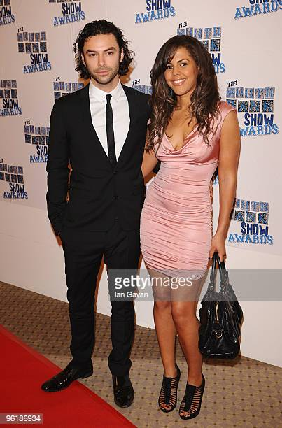 Aiden Turner and Lenora Crichlow attend The South Bank Show Awards at the Dorchester on January 26 2010 in London England