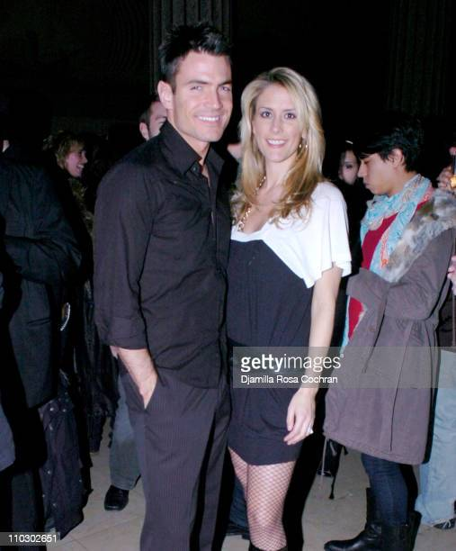 Aiden Turner and Megan Marshall during Mao Magazine Fashion Week Launch Party Hosted by Debbie Harry January 31 2007 at The Broad Street Ballroom in...
