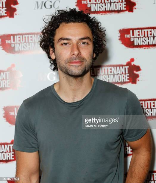 Aiden Turner attends the press night after party for The Lieutenant of Inishmore at The National Cafe on July 4 2018 in London England
