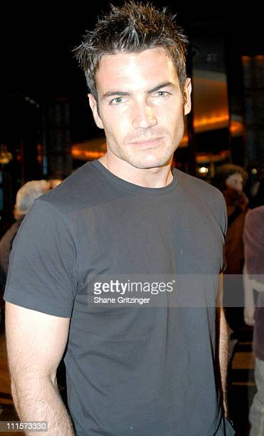 Aiden Turner during Olympus Fashion Week Spring 2005 Holly Kristen Runway and Front Row at The Rainbow Room Rockefeller Center in New York City New...