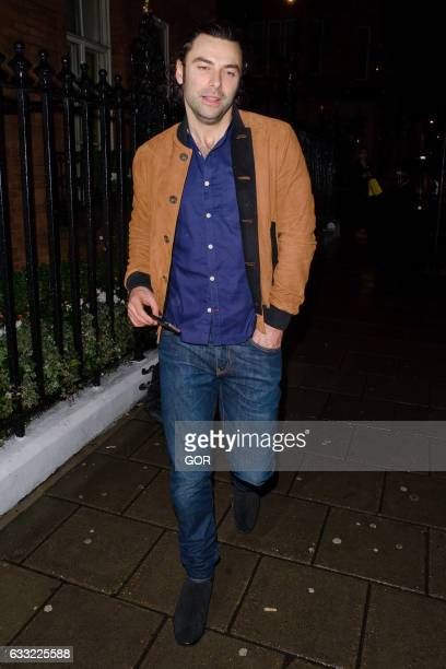 Aiden Turner seen outside the Radio Times covers party Claridges hotel on January 31 2017 in London England
