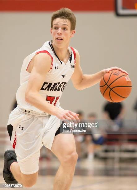 Aiden Warnholtz of the Carleton University Ravens at the CanAm Shootout preseason college basketball tournament series held at Carleton University's...