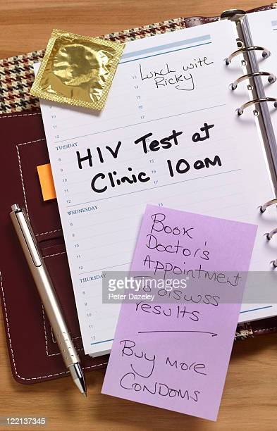 Aids test appointment in diary