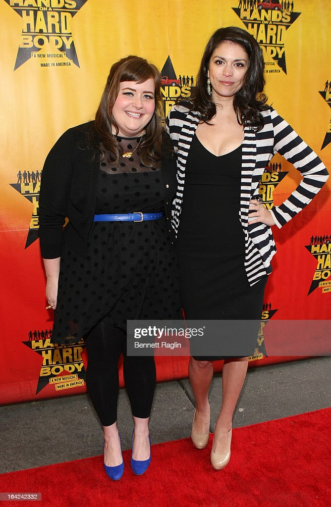 Aidy Bryant and Cecily Strong attend 'Hands On A Hard Body' Broadway Opening Night at The Brooks Atkinson Theatre on March 21, 2013 in New York City.