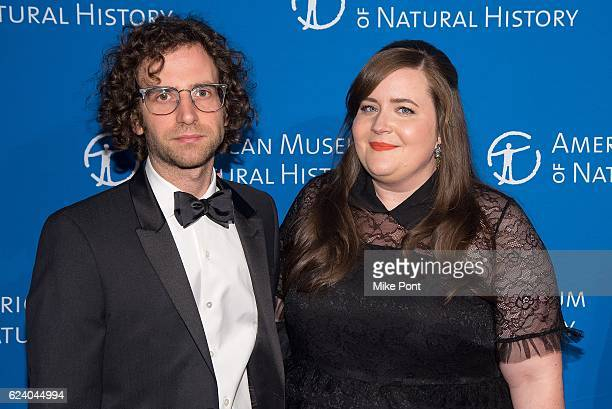 Aidy Bryant and guest attend the 2016 American Museum Of Natural History Museum Gala at American Museum of Natural History on November 17 2016 in New...