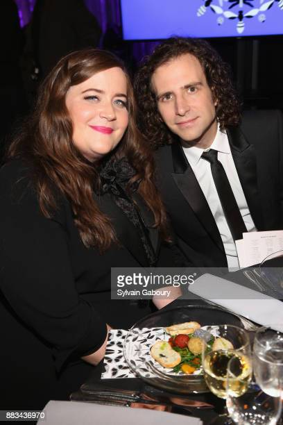Aidy Bryant and Kyle Mooney attend The 2017 Museum Gala at American Museum of Natural History on November 30 2017 in New York City
