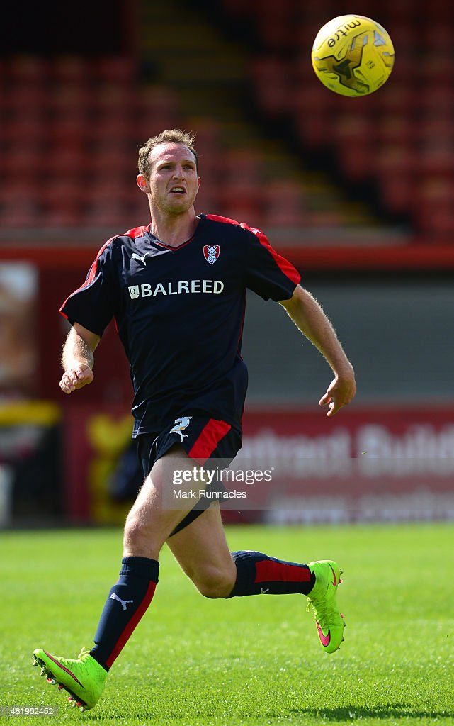 Aidy White of Rotherham in action during a pre season friendly match between Patrick Thistle FC and Rotherham United at Firhill Stadium on July 25, 2015 in Glasgow, Scotland.