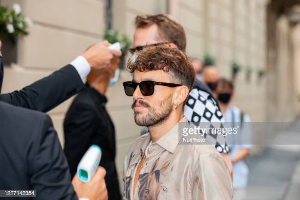 Aiello attends the Etro fashion show during Milan Digital Fashion Week on July 15 2020 in Milan Italy