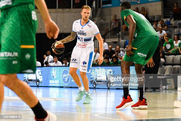 Tim Blue of Antibes during the Jeep Elite match between Antibes and Limoges on September 22 2018 in Antibes France