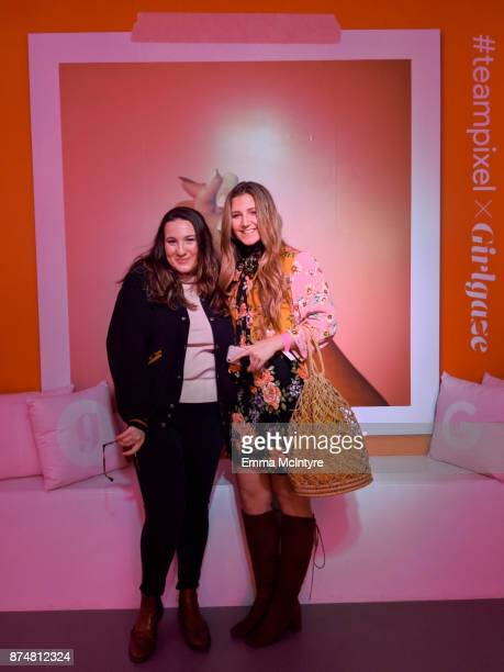 Aiglyn Korne and Ashley Kickliter attend the #TEAMPIXEL x GIRLGAZE launch event hosted by Google and Amanda De Cadenet on November 15 2017 in Los...