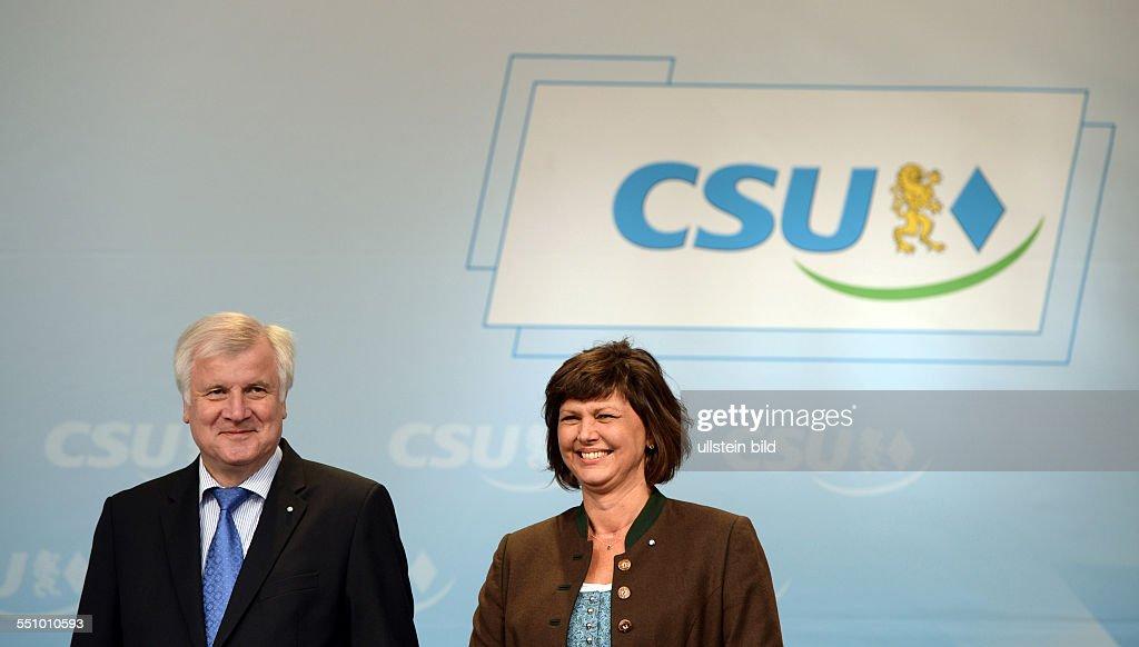 Horst Seehofer and Ilse Aigner, CSU : News Photo