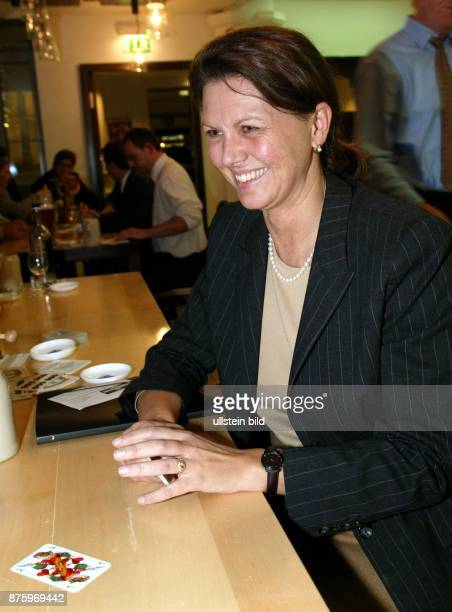 Aigner Ilse Politician CSU Germany Federal Minister of Food Agriculture and Consumer Protection playing cards