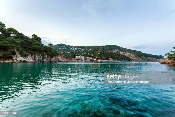 aiguablava coastline in costa brava, catalonia, spain - provincia de gerona fotografías e imágenes de stock