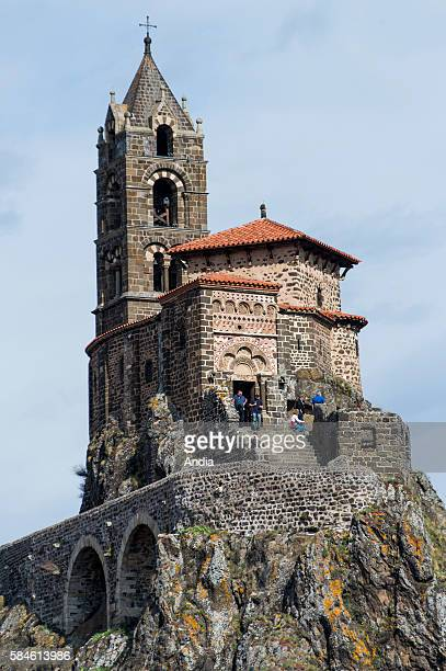 Chapel of Saint-Michel d'Aiguilhe, remarkable monument erected on a rocky peak. Located on the route called Via Podiensis, on the Way of St James,...