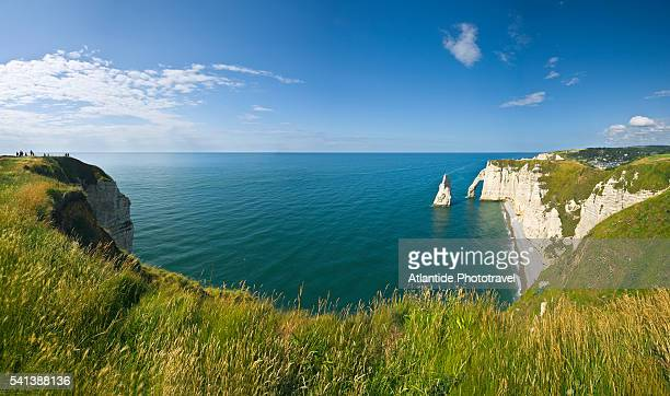 Aiguille and Port d'Aval Cliffs near Etretat, France