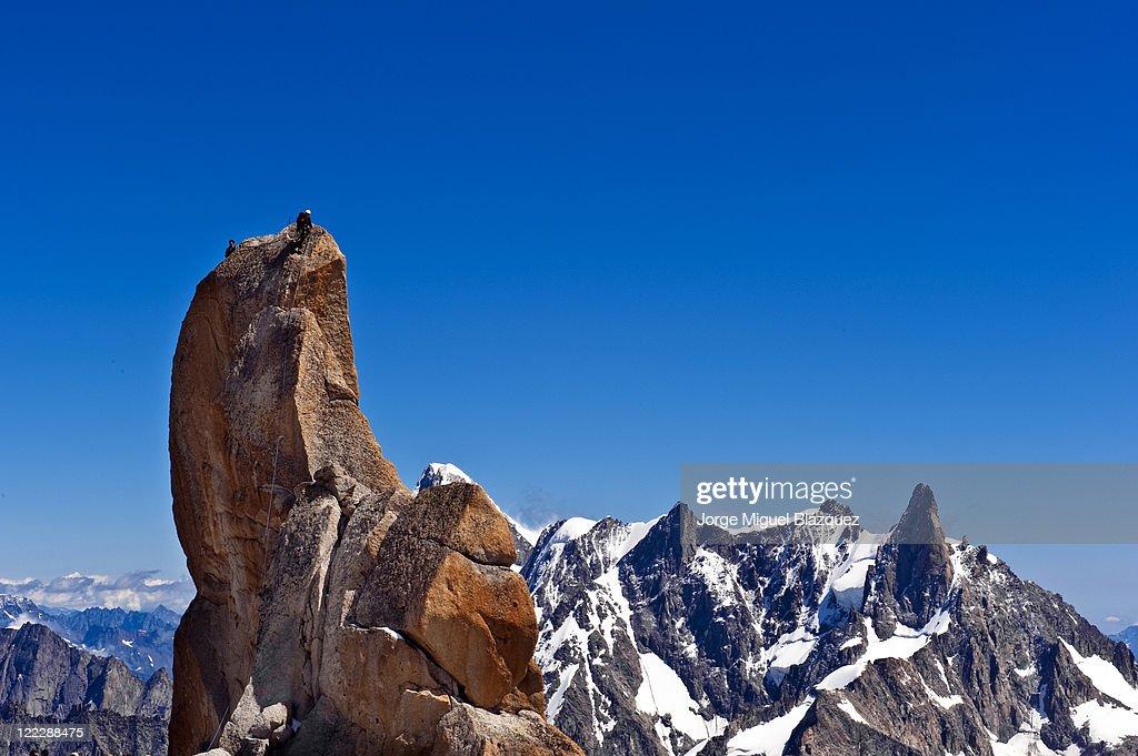 Aiguille Du Midi : Foto de stock