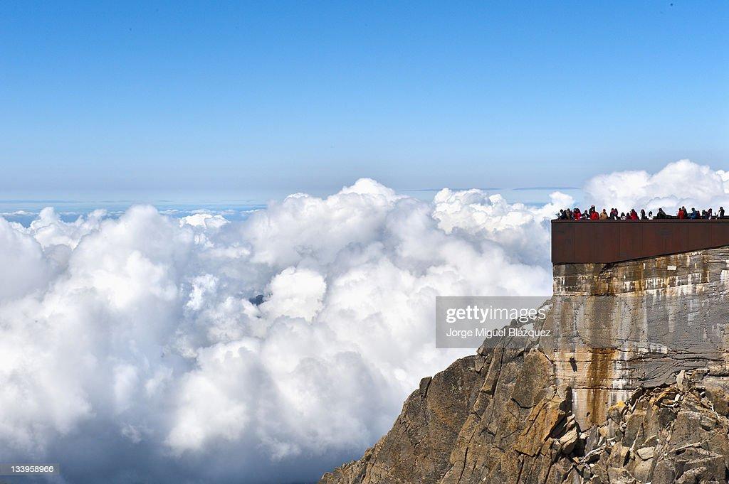 Aiguille du Midi terrace : Foto de stock