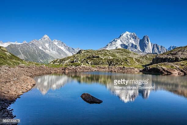 Aiguille Verte from Lac Chesery France