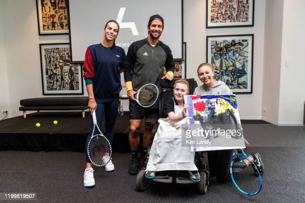 Aija Tomljanovic Fernando Verdasco Angus Lloyd and Amanda Anisimova attend a life drawing class hosted by Art Series Hotels to support The Royal...