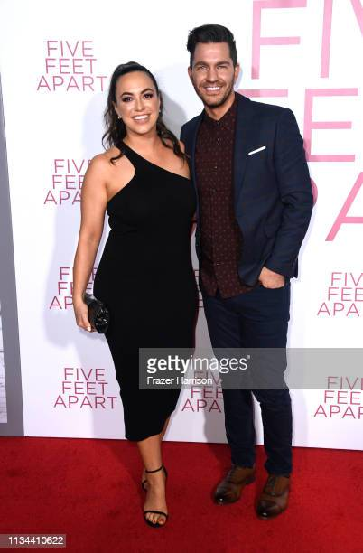 Aijia Lise and Andy Grammer attend the Premiere Of Lionsgate's Five Feet Apart at Fox Bruin Theatre on March 07 2019 in Los Angeles California